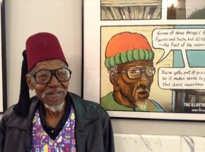 Darryl's great uncle David Ellison-Bey at the exhibit.