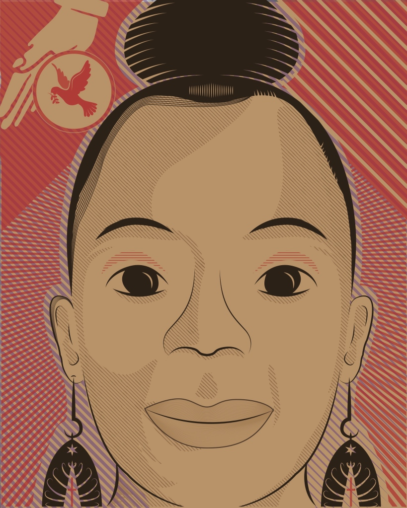 """Latasha Melton  Design by Brian Herrera (Attitude 7). Check out the full Illustrated Press, Attitude 7 and Illinois Humanities Council collaboration for """"Reporting Back"""" here: http://bit.ly/1MyQ4EM — in Chicago, Illinois."""