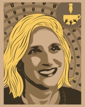 """Rosie Quasarano Design by Brian Herrera (Attitude 7). Check out the full Illustrated Press, Attitude 7 and Illinois Humanities Council collaboration for """"Reporting Back"""" here: http://bit.ly/1MyQ4EM — in Chicago, Illinois."""